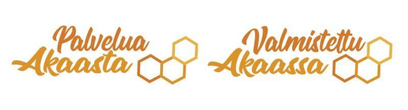 Palvelua Akaassa ja Valmistettu Akaassa -logot