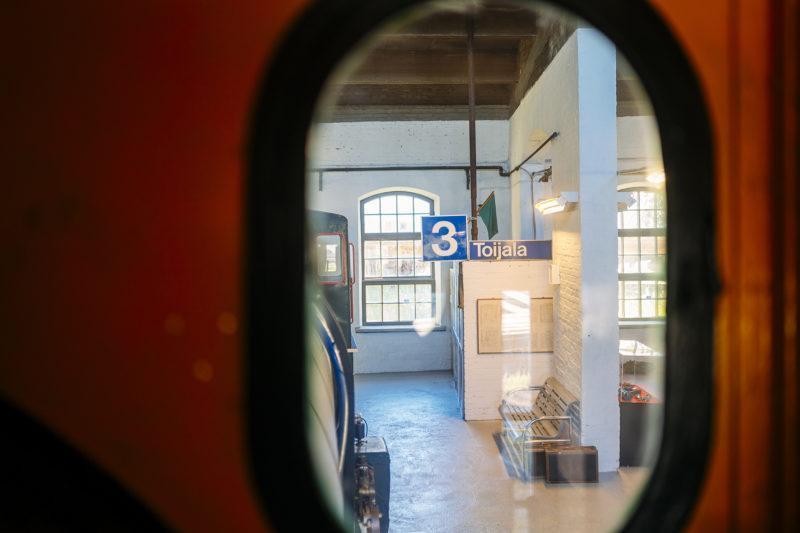 veturimuseossa Toijala-kyltti