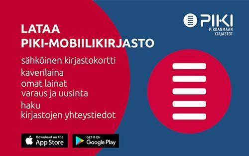 PIKI-mobiilikirjasto mainos, toimii linkkinä.