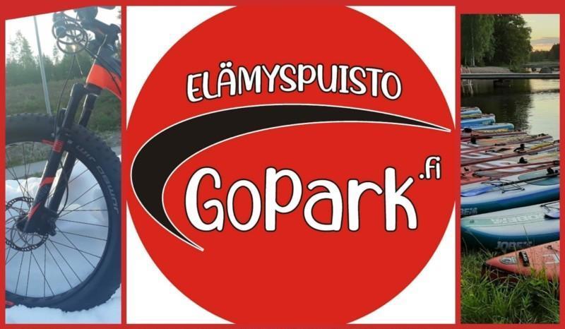 Mainoskuva, jossa logo ja eri aktiviteetteja