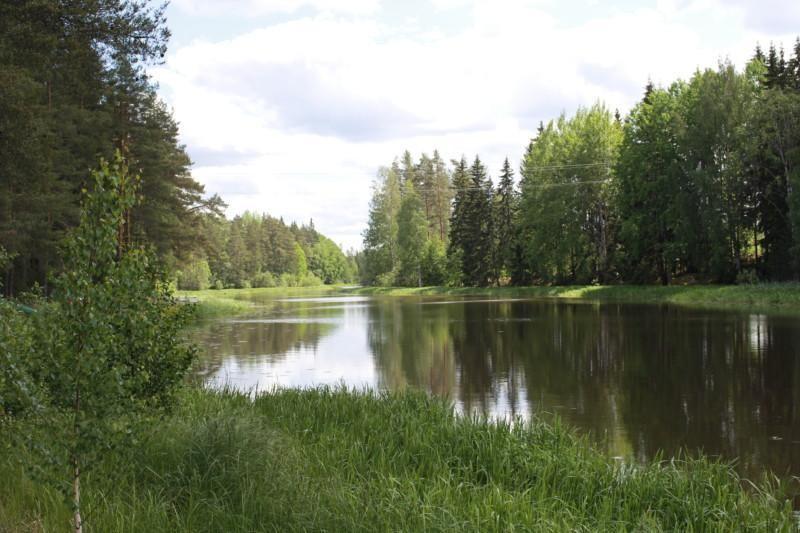 Hukarin alueen kaunista vihreää luontoa ja vesistö