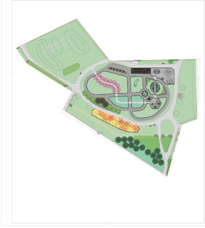 karttakuva liikenne- ja liikuntapuistosta
