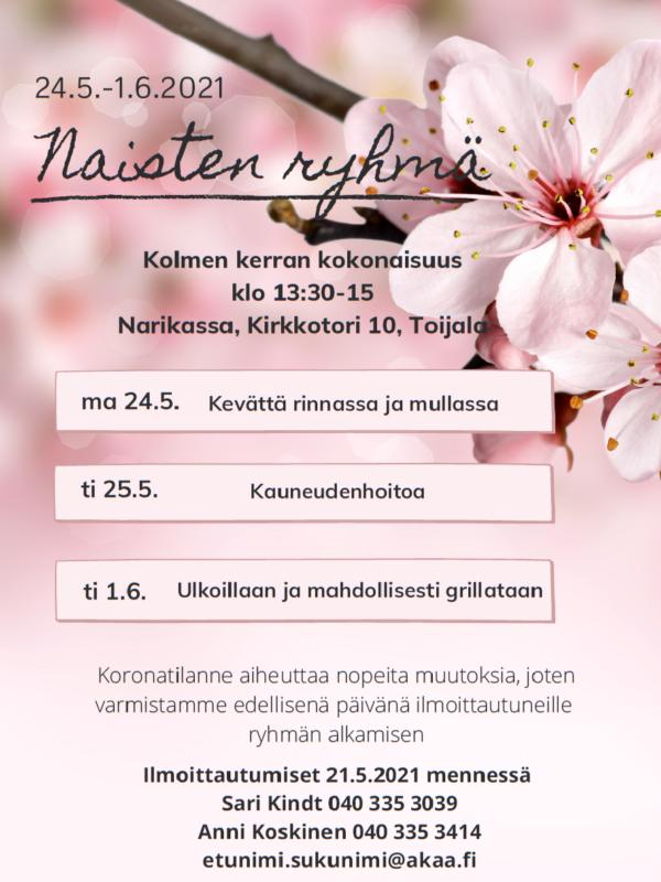 Naisten ryhmä 24.5.-1.6.2021