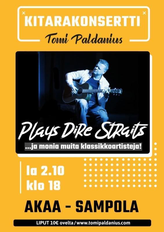 Tomi Paldaniuksen konserttimainos
